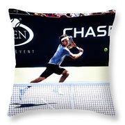 Flying Federer  Throw Pillow