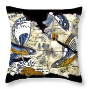 Flying Fish No. 3 Throw Pillow