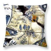 Flying Fish No. 3 - Study No. 2 Throw Pillow