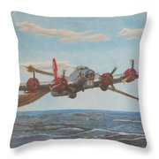 Coming Home - Boeing B-17 Flying Fortress Throw Pillow