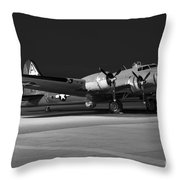 Flying Fortress On The Ramp Throw Pillow