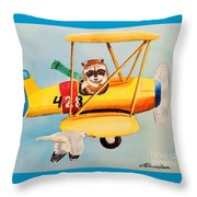 Flying Friends Throw Pillow