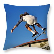 Flying High - Action Throw Pillow