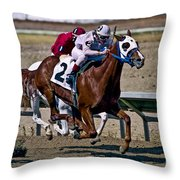 Flying Hooves Throw Pillow