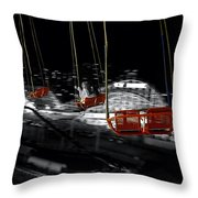 Flying In The Carousel Throw Pillow