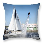 Flying In The Water Throw Pillow