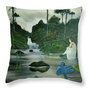 Flying Into Your Arms Throw Pillow