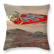Flying Just Above The Waves Throw Pillow
