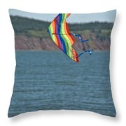 Flying Kite Throw Pillow