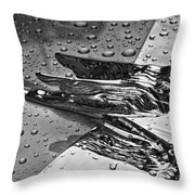 Flying Lady Hood Ornament In B And W Throw Pillow