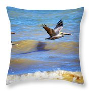 Flying Low Throw Pillow
