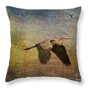 Flying Near The Moon Throw Pillow