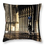 Flying On Rails Throw Pillow