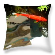 Flying On The Surface Throw Pillow