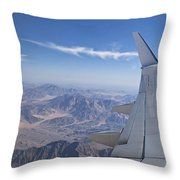 Flying Over Mount Sinai Throw Pillow