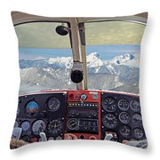 Flying Over North Cascades Throw Pillow