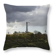 Flying Over The Tuileries Throw Pillow