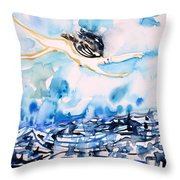 Flying Over Troubled Waters Throw Pillow