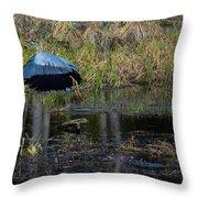 Flying Parasol Throw Pillow