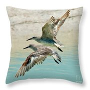 Flying Pipers Throw Pillow