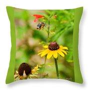 Flying Pollen Throw Pillow