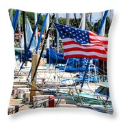 Flying Proud By Diana Sainz Throw Pillow