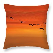 Flying South  Throw Pillow by Cindy Greenstein