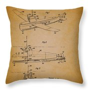 Flying Submarine Patent Throw Pillow