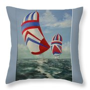 Flying The Colors Throw Pillow