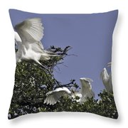 Flying The Coop Throw Pillow