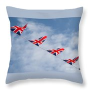 Flying The Union Jack Throw Pillow