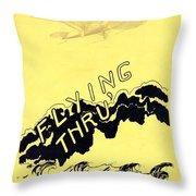 Flying Thru Throw Pillow