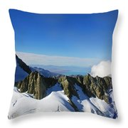 Flying To Fox Glacier #2 Throw Pillow
