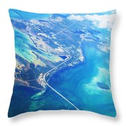 Flying To Key West Throw Pillow