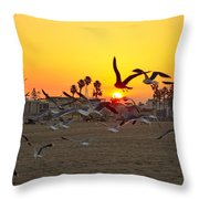 Flying To The Rising Sun Throw Pillow