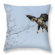 Flying To The Trees Throw Pillow