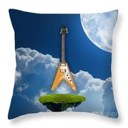 Flying V Guitar Throw Pillow