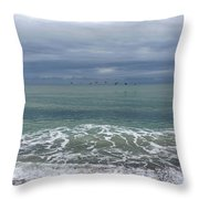 Flying Weather Throw Pillow