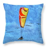 Flying With Birds Throw Pillow