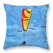 Flying With The Birds Throw Pillow