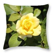 Flying Yellow Throw Pillow