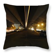 Flyover And A Car Throw Pillow
