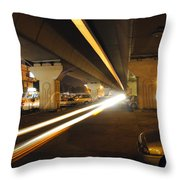 Flyover In The Night Throw Pillow