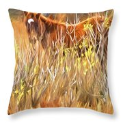 Foal In The Sticks Throw Pillow