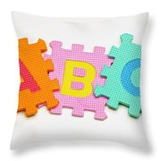 Foam Alphabet Shapes Throw Pillow