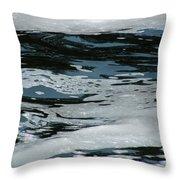 Foam On Water Throw Pillow