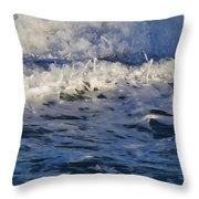 Foamy Brine Throw Pillow