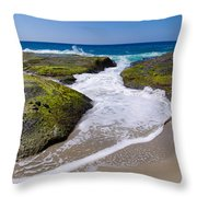 Wave Receding Throw Pillow