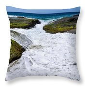 Foamy Water Throw Pillow