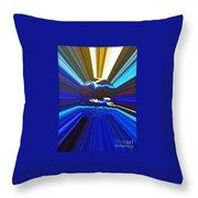 Focus On Blue Throw Pillow